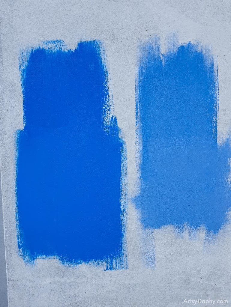 testing two shades of blue colour