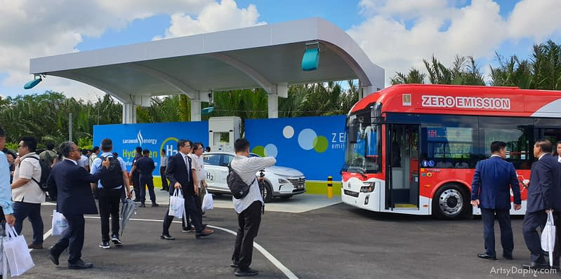 hydrogen fuel cell refuelling station opening ceremony at Sarawak Energy