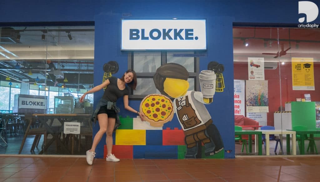 Blokke Citta Mall Lego inspired murals by Artsy Daphy