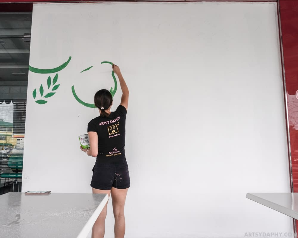 Painting Malaysian Food Doodle Wall Art at Raini's Kitchen.