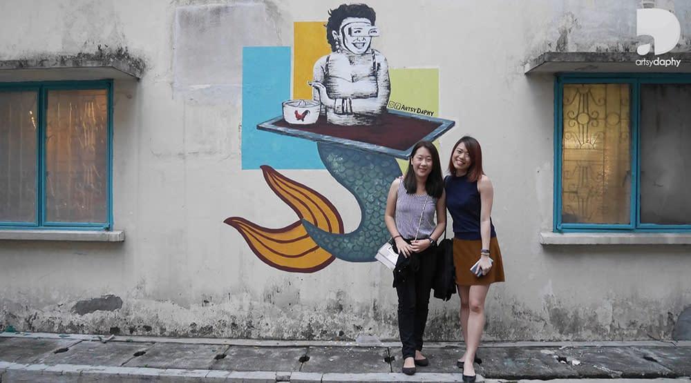 Outdoor wall art is part of WooPin Kamunting Kuala Lumpur Murals