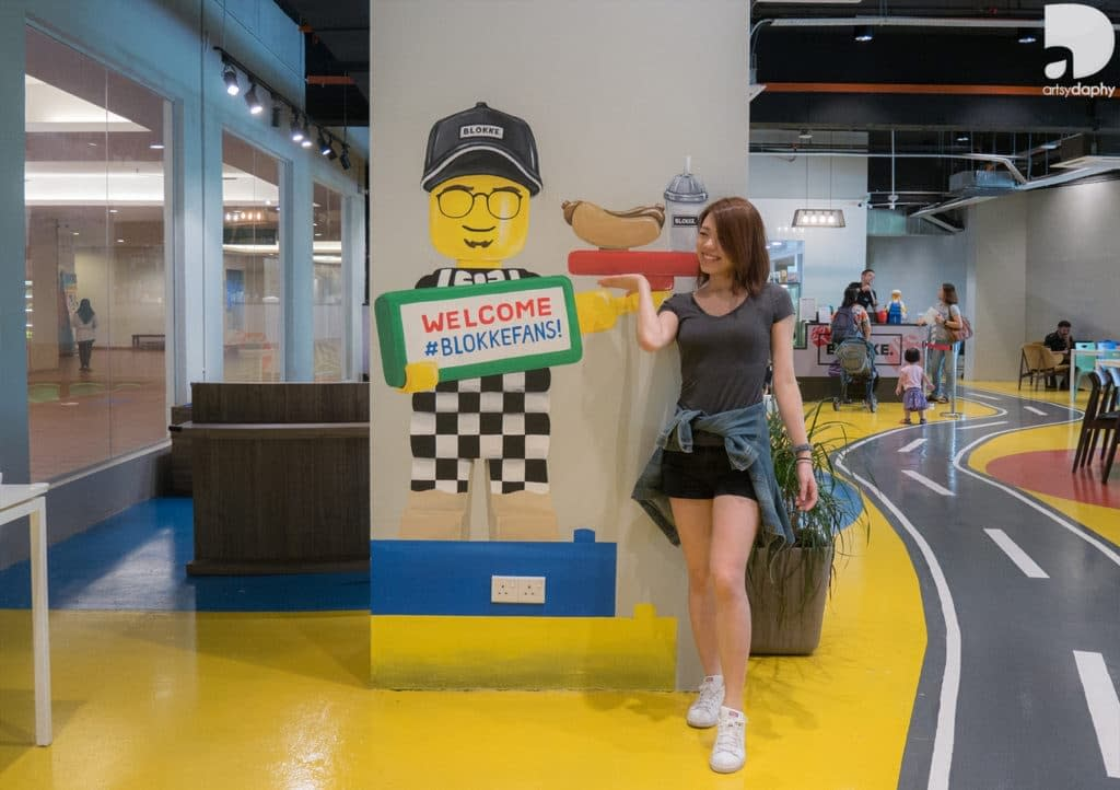 Interior Blokke Citta Mall Lego inspired murals by Artsy Daphy