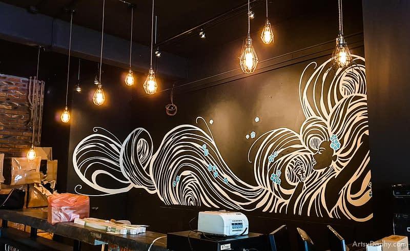 Linum 19 Bar Flowy Hair Mural in 2019 after 2014 restoration