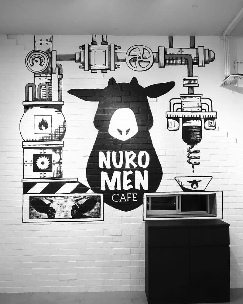 Cute Cow at Nuromen Restaurant Mural Kuala Lumpur, Petaling Jaya