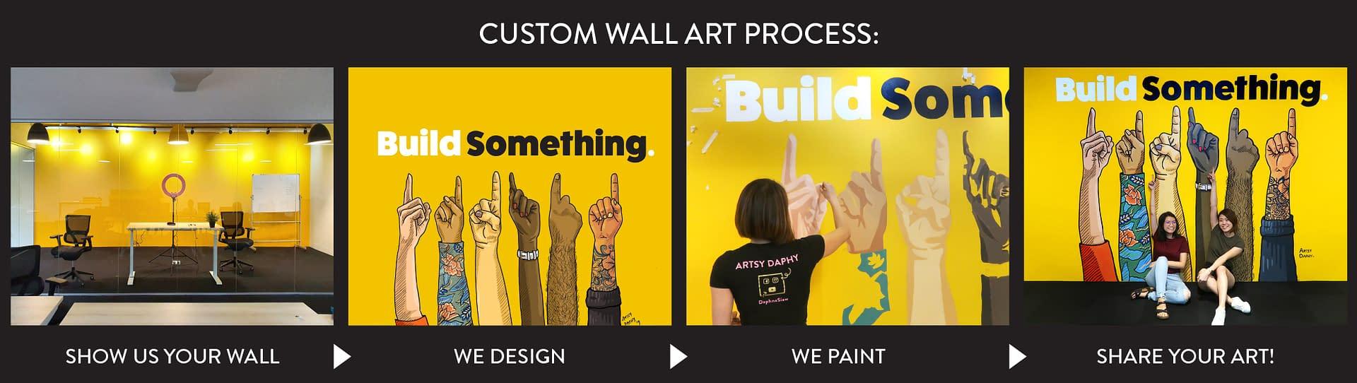 Sarawak Wall Artist Custom Wall Art Creation Process