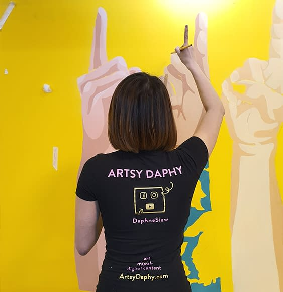 Artsy Daphy Painting Nas Daily Office Wall Mural
