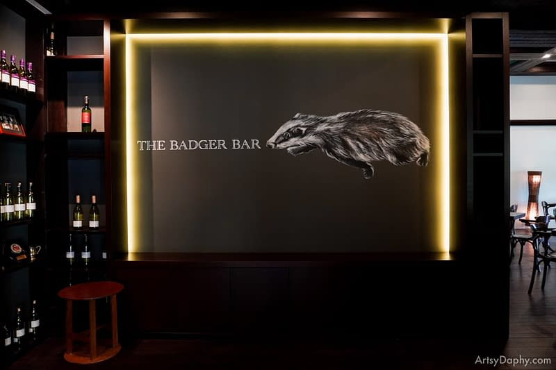 The badger mural is completed at the classy renovation of the Badger Bar Sarawak Club
